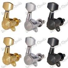 Набор 6 шт. хромированные струнные колышки для настройки ключей, Колки для акустической электрогитары, замок Schaller style