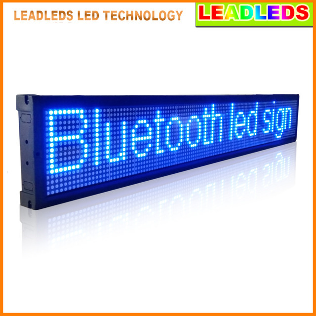 40 x 6 3 inch Bluetooth Remote Control Programmable Led Display Board  Scrolling Message for Business and Store-in LED Displays from Electronic