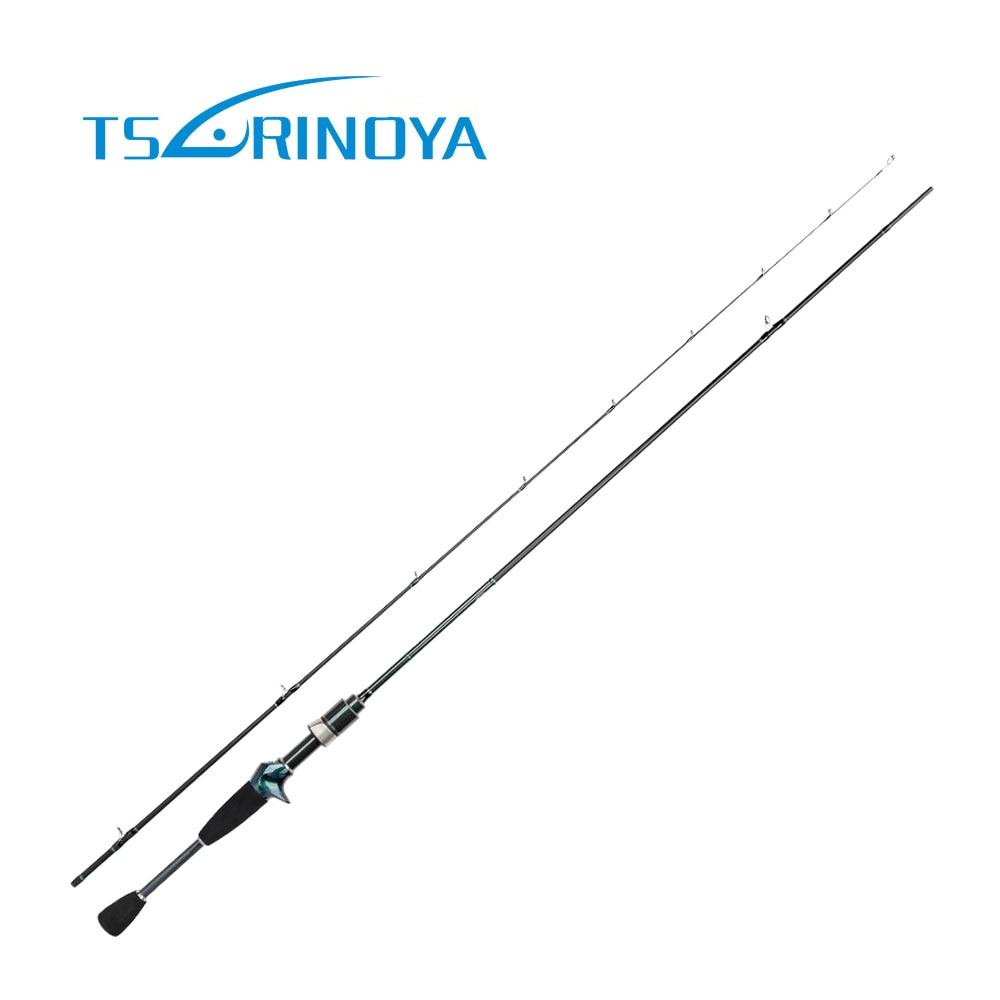 Tsurinoya 1.89 m tige de filature pour la pêche 1.89 m tige de coulée ultralégère professionnelle Pesca Baitcasting canne à pêche matériel de pêche
