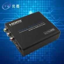 YOUTINGHDAV AV/SV to HDMI 4Kx2K 30HZ Scaler Converter Box cvbs/s-video to hdmi conver