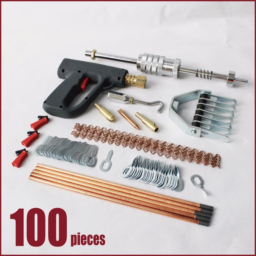 auto car body repair tools dent puller kit car dent remover puller set slide hammer spot welding gun pulling claw twist washers