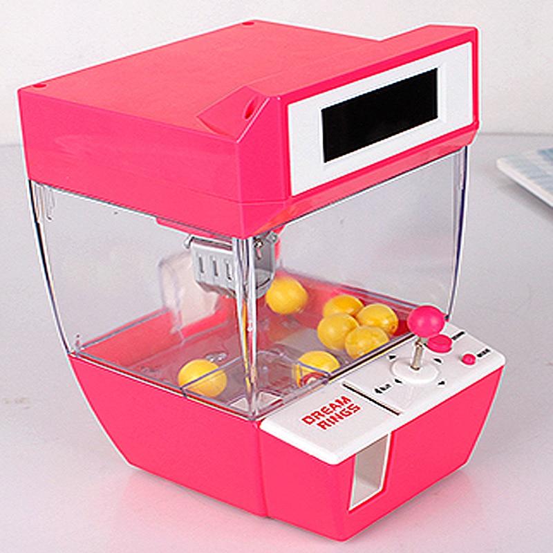 Mini Candy Grabber Catcher Crane Lazy Person Alarm Clock Machine Funny Toy Fun Practical Joke Gadget Board Games Children Gifts