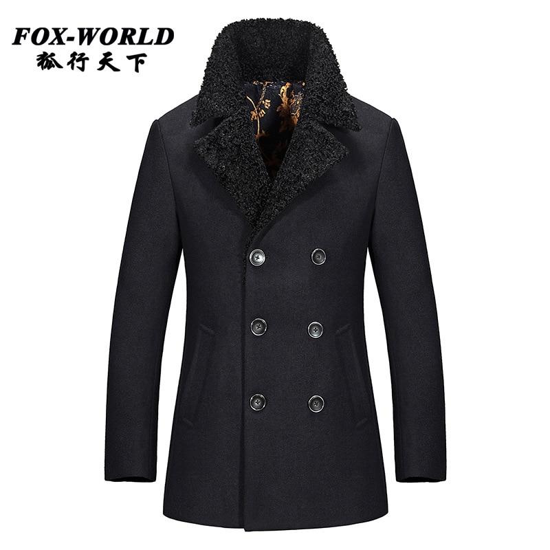 fashion brand mens cashmere coat winter 2015 peacoat casual wool coat mens  pea coat overcoat manteau b2baaf745ddd7