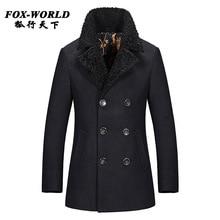 fashion brand mens cashmere coat winter 2015 peacoat casual wool coat mens pea coat overcoat manteau homme erkek mont