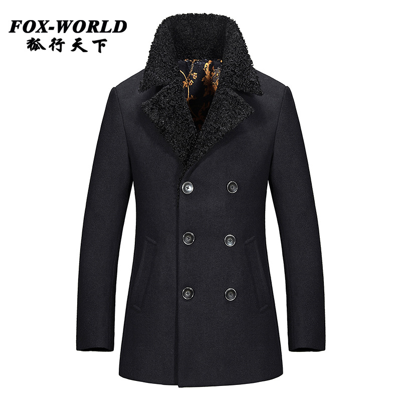 Popular 100 Wool Pea Coat-Buy Cheap 100 Wool Pea Coat lots from ...