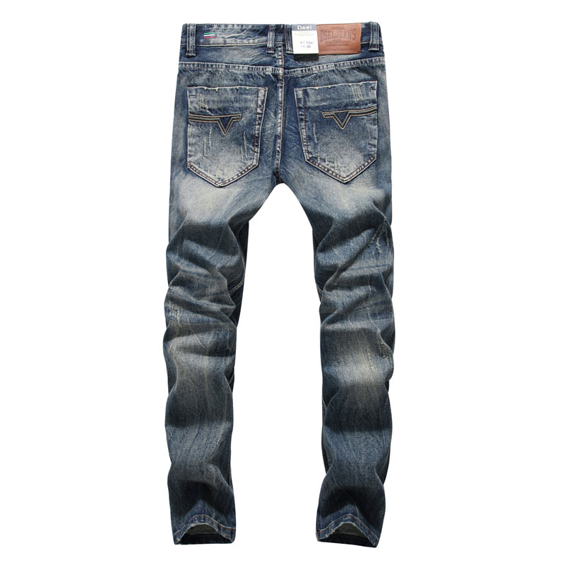 2017 New Arrival Fashion Men Jeans Straight Fit Leisure Quality Biker Jeans Denim Trousers Dsel Brand