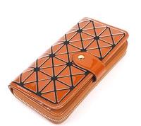 New 2017 Women Fashion Long Clutch PU Wallet Diamond Lattice Standard Magic Wallets Baobao Long Purse