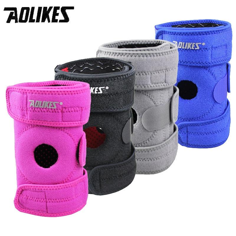 Aolikes 1 unids rodilla apoyo rodilla protector prevenir la artritis lesión ajustable rodilla gurad mantener la rodilla caliente