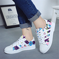 New Fashion Women Single Shoes Star Summer Stamp Casual Shoe Trainers Walking Skate Shoes Flats Tenis Canvas Chaussure Femmes