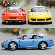 1 32 Brand New Scale Pull Back Car Toys 911 Turbo Turismo Diecast Metal Flashing Musical
