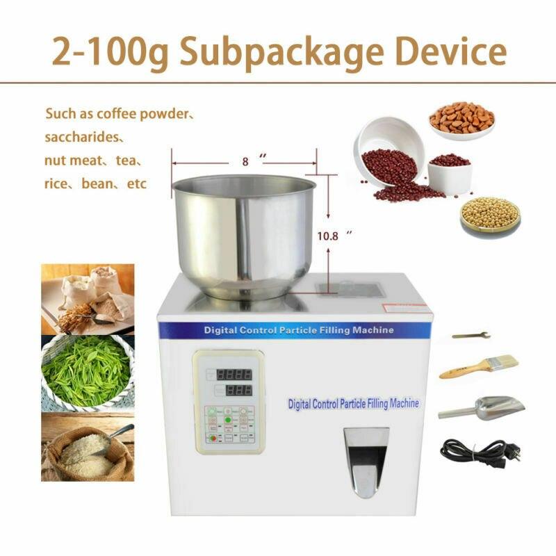 2-100g poudre automatique pesant la Machine de remplissage petits outils de sous-emballage de particules