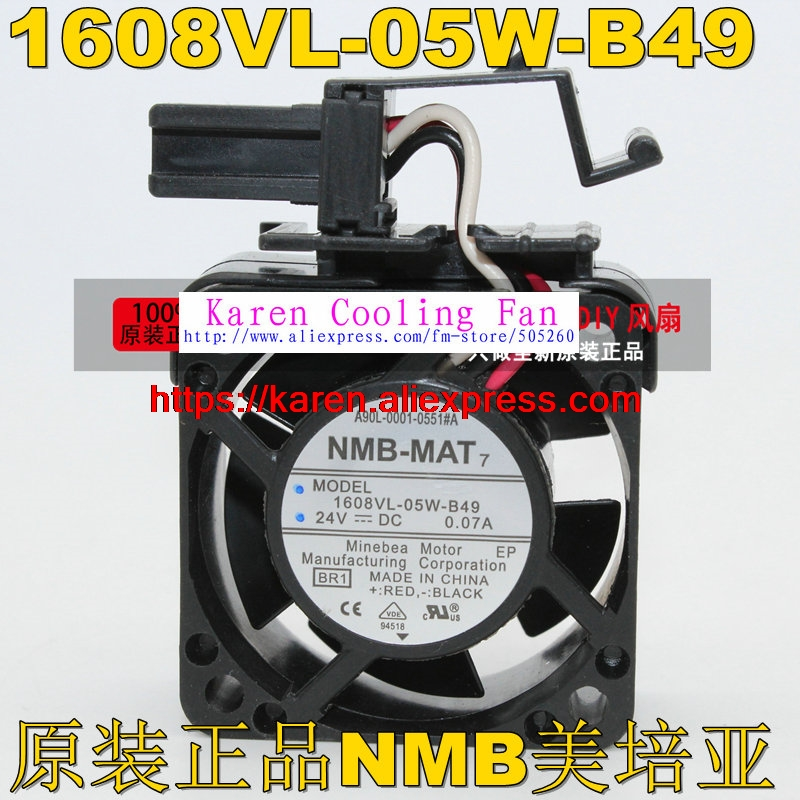 NMB for FANUC System fan A90L-0001-0551#A NMB 1608VL-05W-B49 24V 0.07A 40*40*20MM 4CM a44l 0001 0165 150a fanuc current sensor
