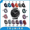 18mm pulseira de nylon para huawei watch 2015 tecido faixa de relógio da otan exército Strap Pulseira De Pulso Multi Cores + Ferramenta + Barras de Molas