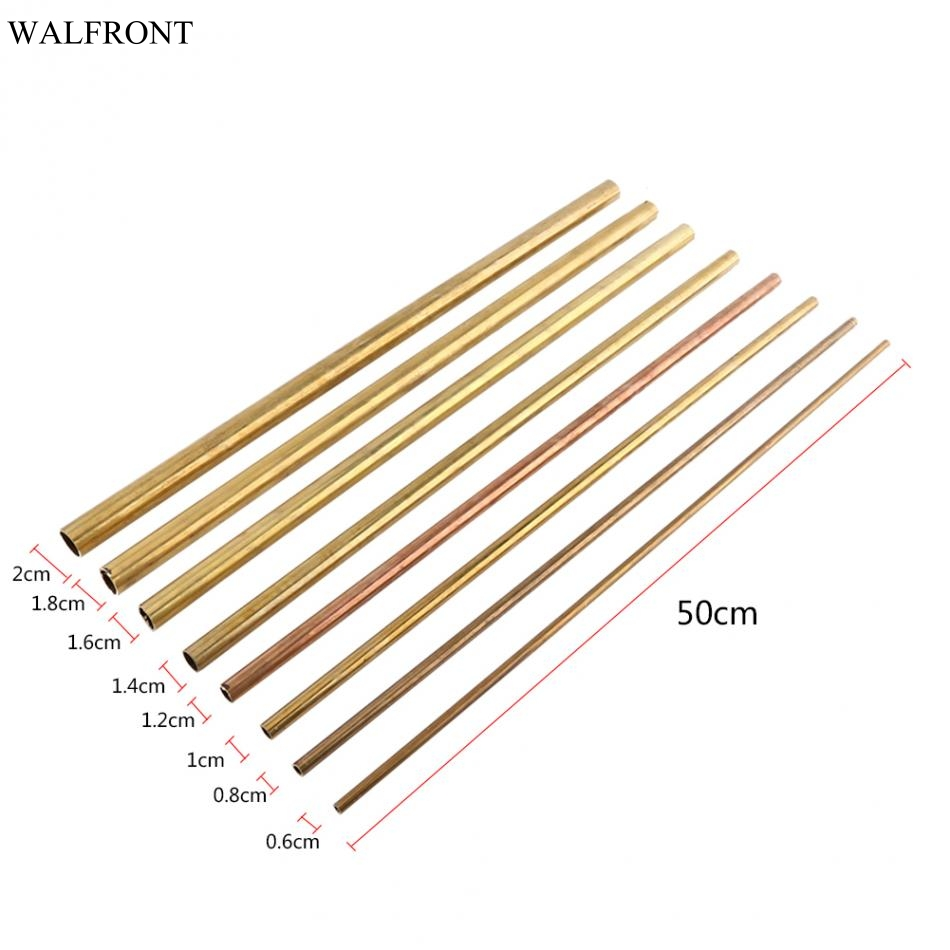 uxcell Brass Round Tube 300mm Length 4.5mm OD 0.5mm Wall Thickness Seamless Straight Pipe Tubing 2 Pcs