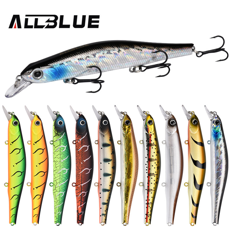ALLBLUE Best Quality Fishing Wobbler 17.5g/110mm Suspend Minnow Pike Bass Fishing Lures With 6# Hook peche isca artificial floral print ombre yoga leggings