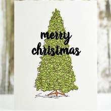 Naifumodo Christmas Tree Metal Cutting Dies And Stamps Scrapbooking Tropical Plants For Decoration Album Card DIY Craft New 2019