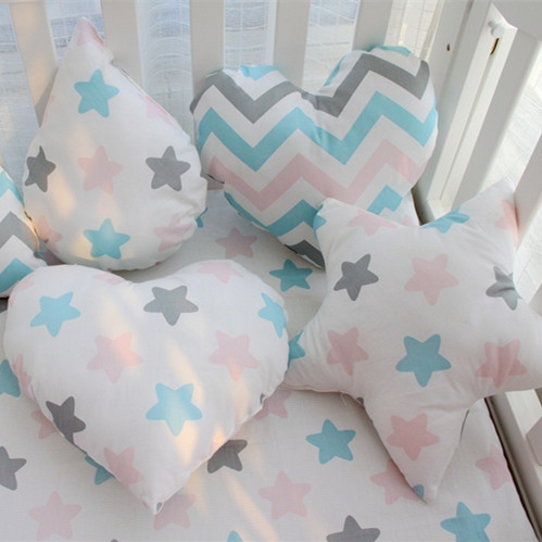 Baby Cartoon Pillow Kids Cute Cushion Cotton Baby Room Decor Child Stuffed Soft Newborn Bed Doll Children Gifts Star Shape Toy купить