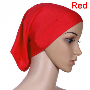 Image 4 - Musulmano Islamico Arabo Tubo Hijab Underscarf Velo Abito Abaya Interno Caps Cappelli di Cotone Mercerizzato Elastico Regolabile