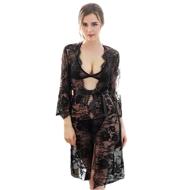Sexy Lingerie Porno Female Sleepwear Chemise De Nuit Women Lace Dress Negligee Dress Night Dress Nightgown Roupas Feminina SY026
