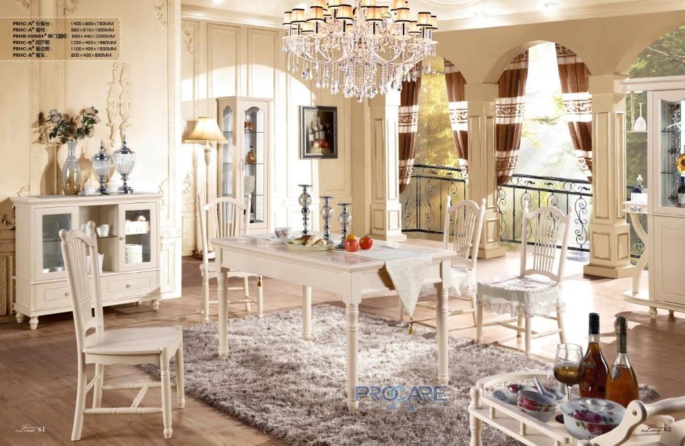 Compra conjunto de muebles de roble silla de comedor online al por ...