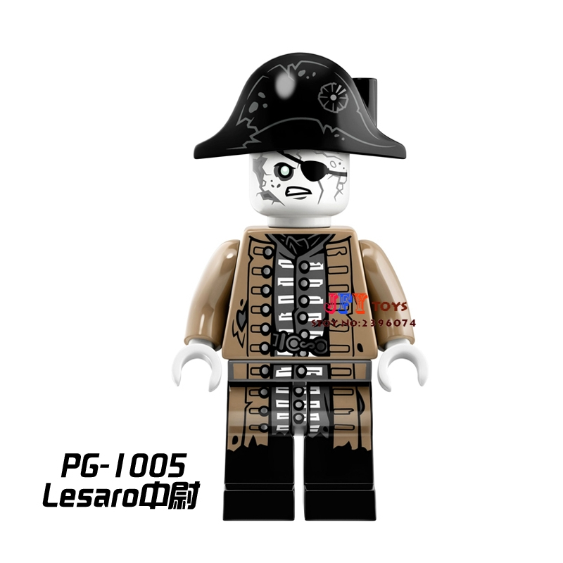 Single star wars Pirates of the Caribbean Tales Lesaro building blocks models bricks toys for children kits brinquedos menino