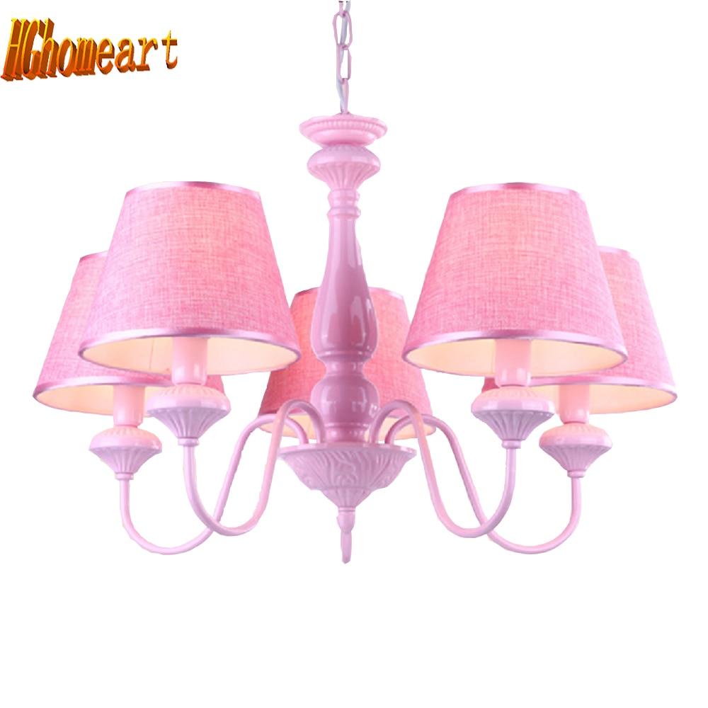Children's book room chandelier bedroom chandelier child girl pink princess chandelier led E27 110V 220V lamp ceiling lights одежда для сна kai book girl dress sleepsong