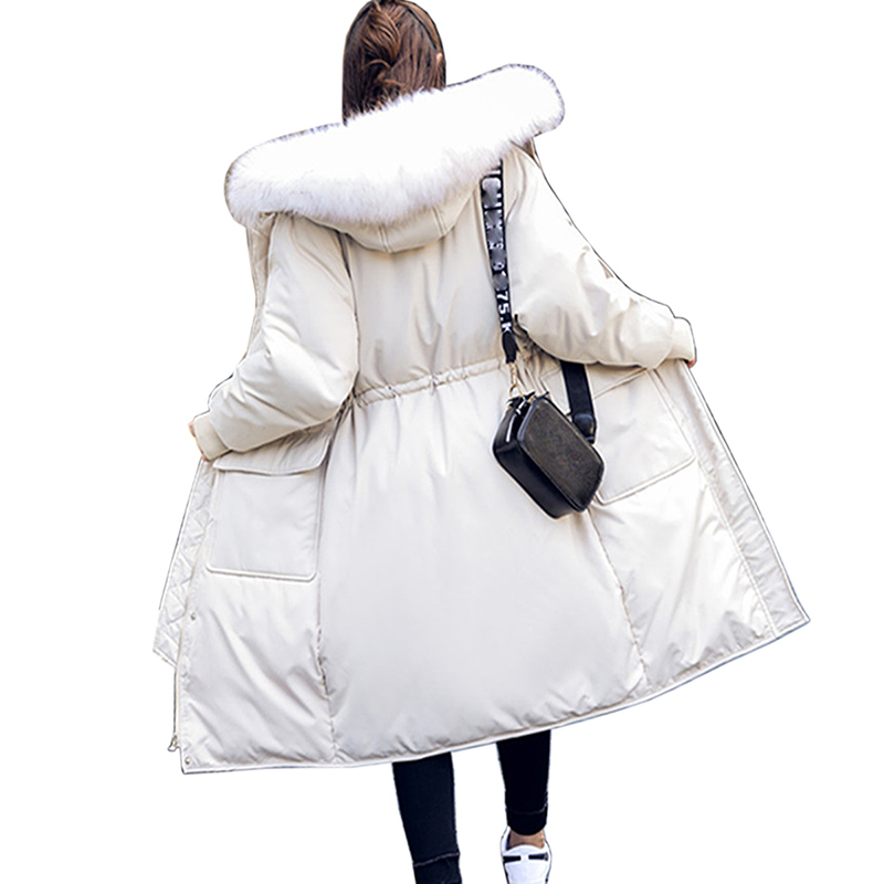 Winter Jacket Women White Duck   Down     Coat   2018 new Parka Female Long   Down   Jacket   Coat   With women warm large size Hooded Jacket