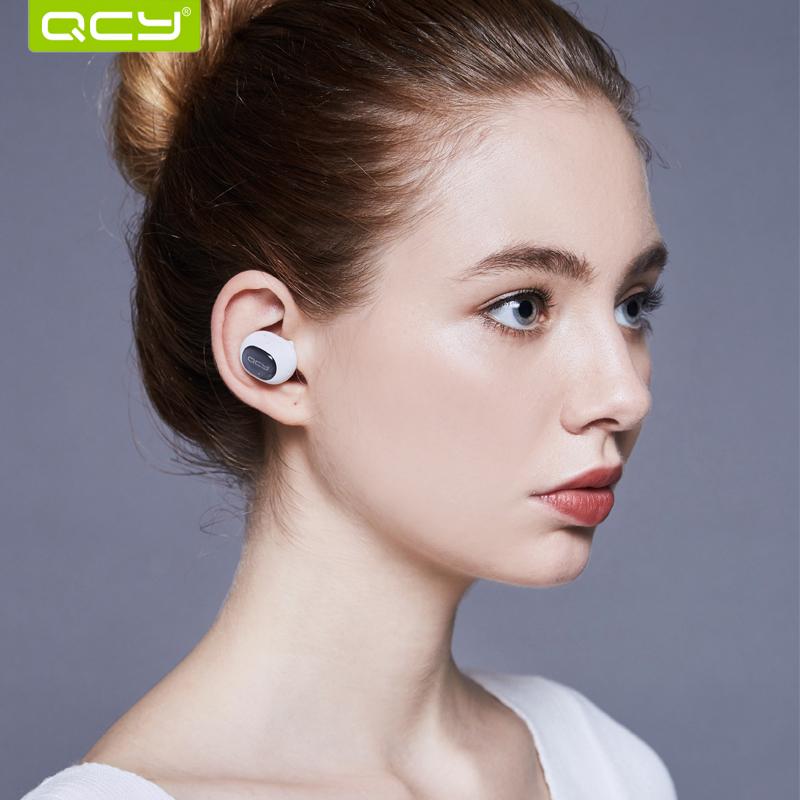 QCY Q26 mono headset business earphone bluetooth 4.1 earbud  mini headphone for ios iphone 6 7 android phone remax 2 in1 mini bluetooth 4 0 headphones usb car charger dock wireless car headset bluetooth earphone for iphone 7 6s android