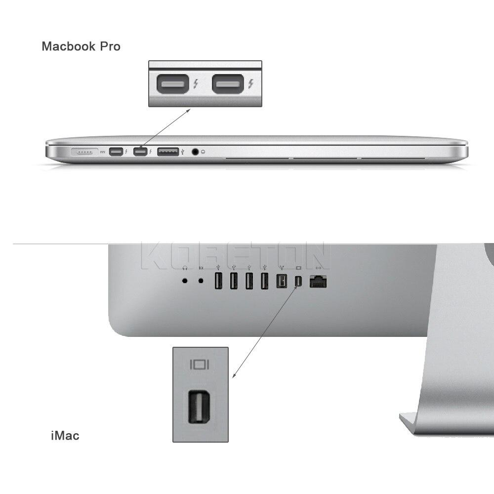 kebidumei 1Pcs Mini Thunderbolt Mini DisplayPort Display Port DP to ...