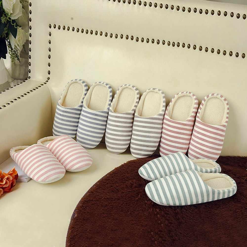 Emoji slippers Vrouwen Mannen Warm Gestreepte Slipper Binnenshuis Anti-slip Winter Huis schoenen kerst slippers pantufla