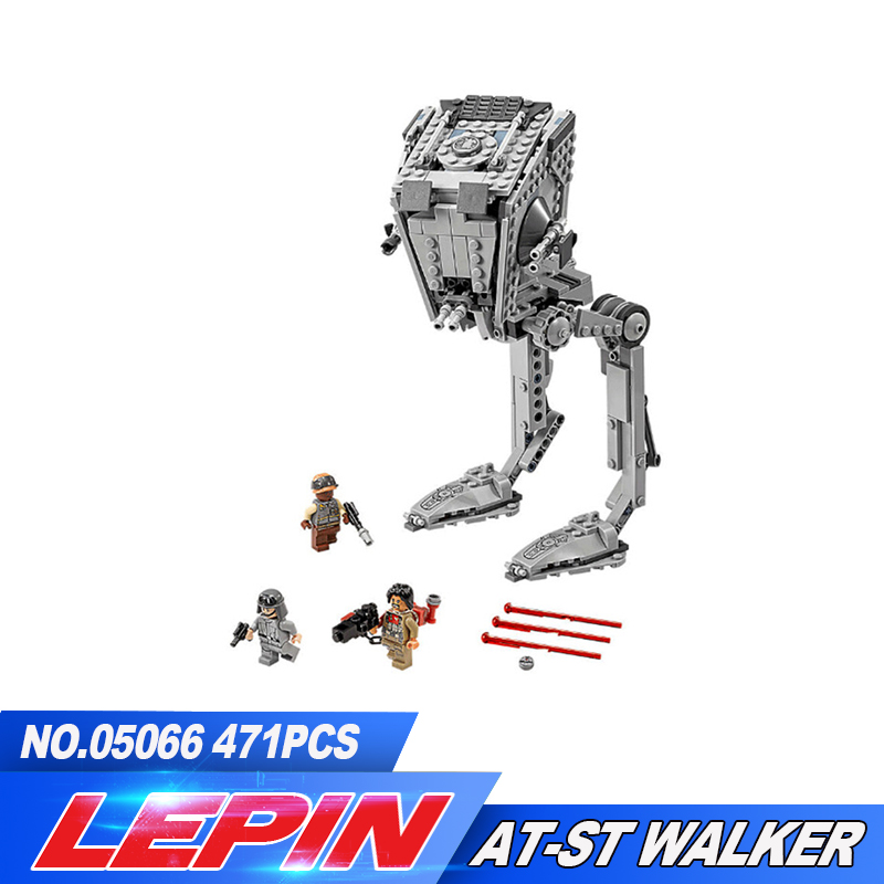 цена на New LEPIN 05066 series The AT-ST Walker Model Building Blocks set classic Compatible legoed 75153 Toys for children