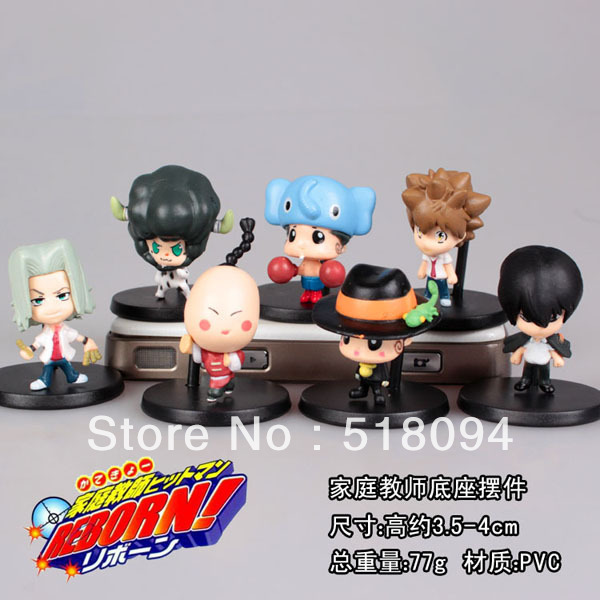 Free Shipping Hitman Reborn Mini PVC Action Figures Toys Dolls 7pcs/set RBFG011