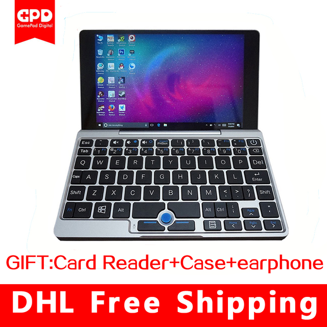 "GPD Pocket Aluminum Shell Mini touch Screen Laptop windows 10 UMPC 7 "" NoteBook Tablet PC X7-Z8750 8GB/128GB (silver)"
