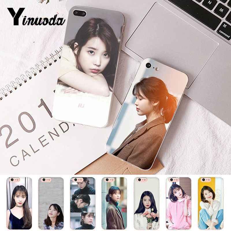 Yinuoda Korean weibliche star Lee Ji Eun IU Weiche Shell Telefon Abdeckung für iPhone 8 7 6 6S Plus X XS MAX 5 5S SE XR 10 Fundas Capa