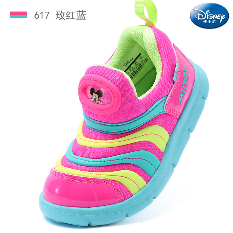 2018 autumn and winter new Disney caterpillar children's shoes boy one pedal anti-skid sneakers girls running shoes EU 28-35