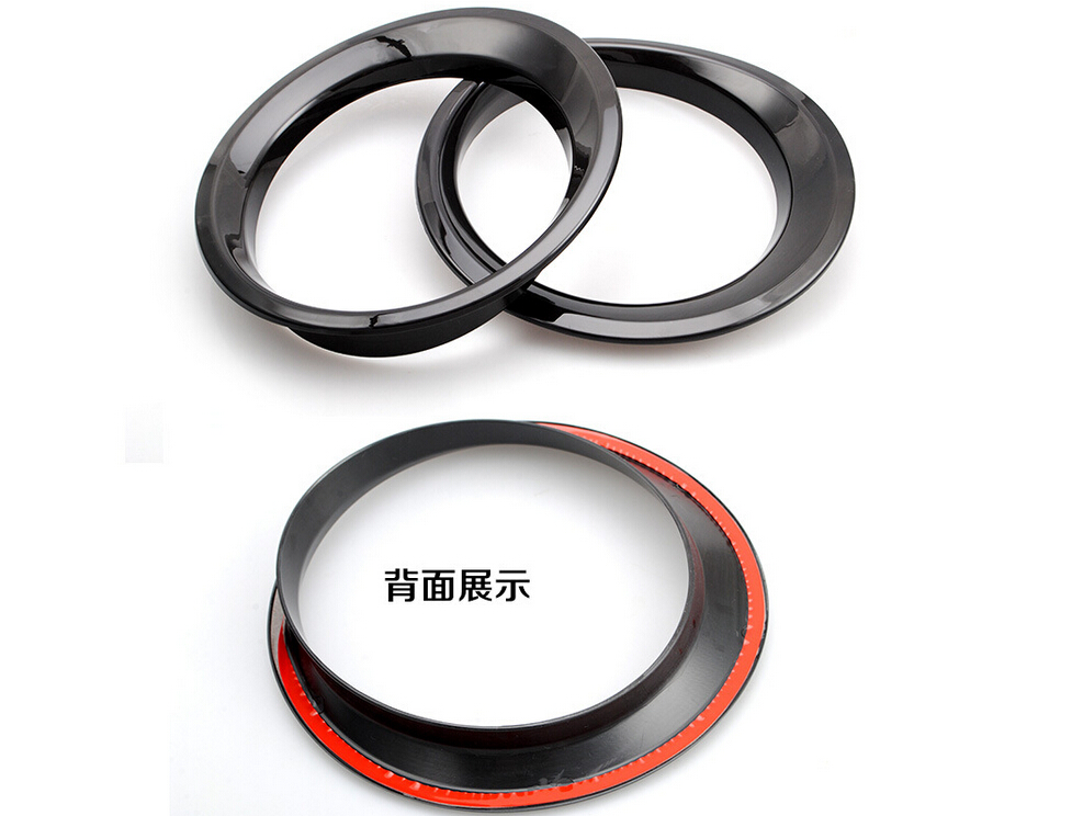 2Pcs set Black ABS Car Front Headlight Head Light Lamp Cover Trim Ring Circle Styling Fit