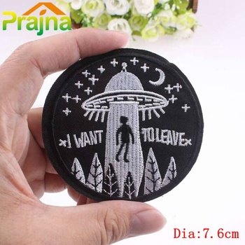 Prajna Trust No One Patch Do Nothing Forever Embroidery Cheap Patches Save Nature Unicorn Badges For Clothes DIY Applique image