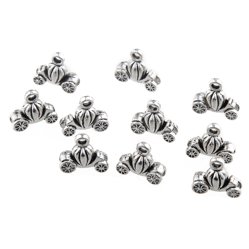 20Pcs Zinc Alloy Lighthouse Round Hollow Charms DIY Jewelry Making Accessories
