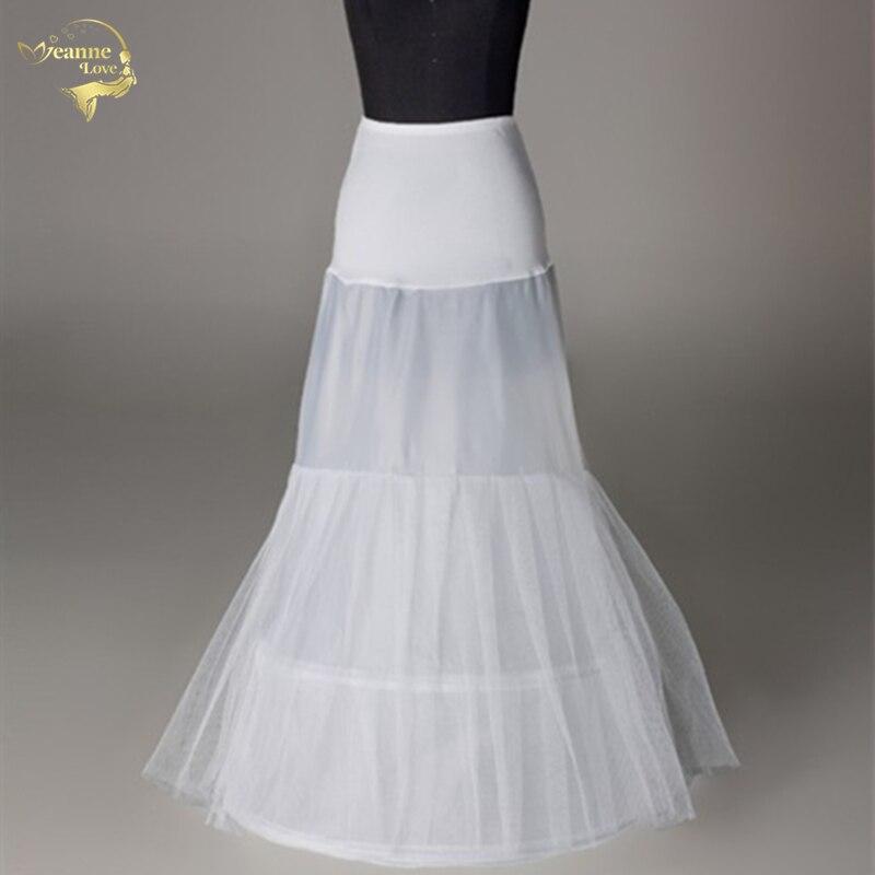 Novia Enaguas  Underskirt Wedding Skirt Slip Wedding Accessories Chemise 2 Two Hoops For Mermaid Train Dress Petticoat Crinoline