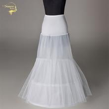 Компания novia Enaguas Нижняя свадьба юбка скольжения сорочка 2 аксессуары два обручи для Русалка платье поезд нижняя юбка кринолин