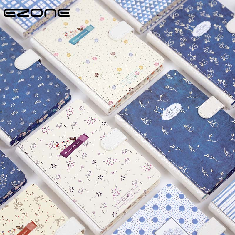 EZONE Floral Flower Schedule Book Notebook Diary Weekly Planner Hard Cover Journal School Study Note Book Memo Agenda Notepad new style fashion cute charming mini portable owl hard cover paper diary notebook school memo note book notepad free shipping