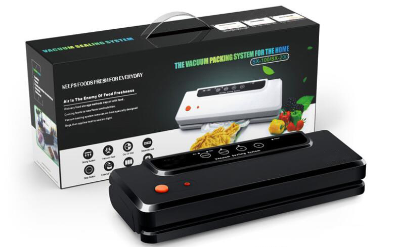Machine à emballer automatique de cachetage d'air de vide d'emballeur de scelleur de vide pour la conservation des aliments secs, humides, mous avec les sacs libres de 10 pièces - 6