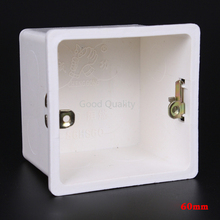 5pcs Universal Type 86 Wall Mount Switch Box Cassette 60mm Concealed Bottom PVC Junction Dark Box Flame Retardant