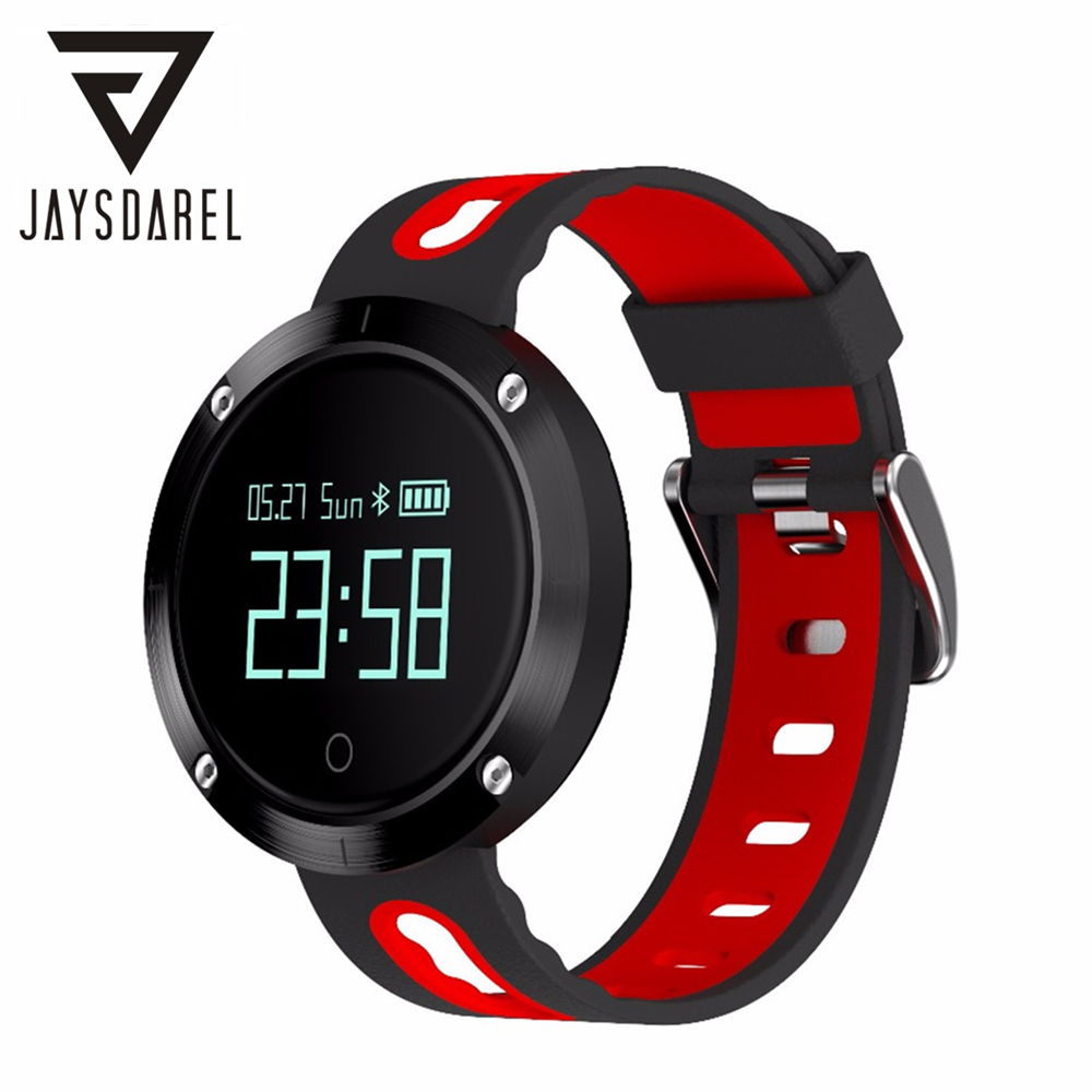 JAYSDAREL DM58 Smart Watch Waterproof IP68 Heart Rate Blood Pressure Monitor Pedometer Sports Smart Wristwatch for Android iOS heart rate smart watch blood pressure monitor sports track wristwatch dm68 smartwatch waterproof bracelet for android ios phone
