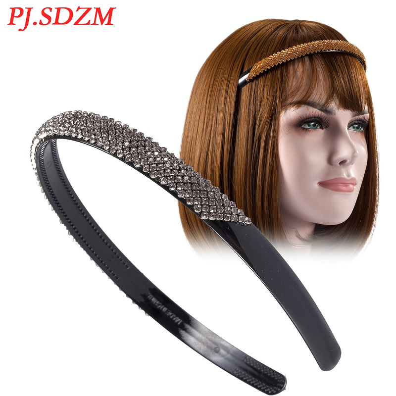 PJ.SDZM 3PCS/LOT 6 Colors Rhinestone Hairband Delicate Female Hair Accessories All Match Girl Hair Decoration Gift Headwear