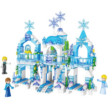 463pcs Building Blocks Toy Compatible With Legoingly Friends Boy Series Girls Ice Castle  Bricks Birthday Gifts for Children
