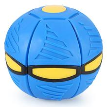 FBIL-плоский деформационный шар в форме летающей тарелки, светящаяся игрушка, уличный прыгающий шар, светильник, отскок, прыгающий шар, уличная игрушка