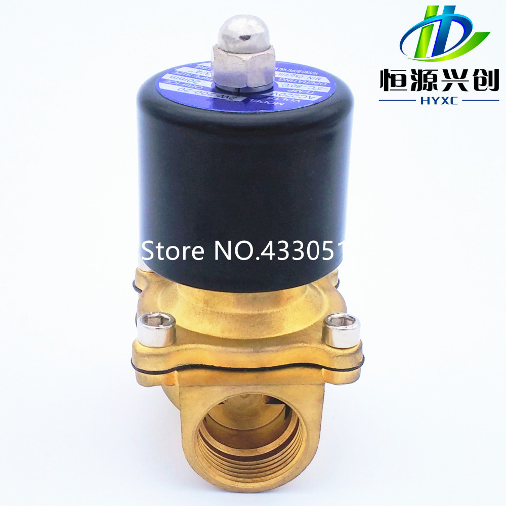 16mm 2W160-32/40/50,  NC/NO, 2 Way 1/2 Gas Water Pneumatic Electric Solenoid Valve Water Air 24V AC110V 220V 2way2position 3 8 electric solenoid valve n c gas water air 2w160 10