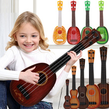 Childrens Trumpet Instrument Simulation Early Enlightenment Music Toy Guitar Small Four String Can Play
