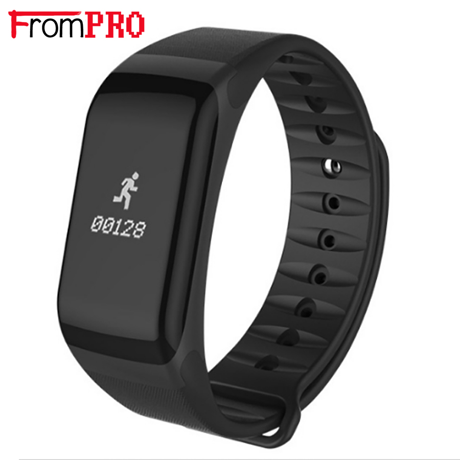 FROMPRO Smart Band blood pressure watch F1 Smart Bracelet Heart Rate Monitor SmartBand Wireless Fitness For